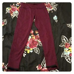 Burgundy Leggings From Pink